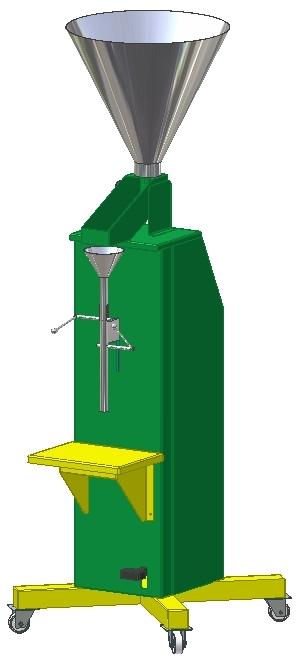 Maquina para llenar con tierra las bolsas de germinacion en los  viveros. varios modelos