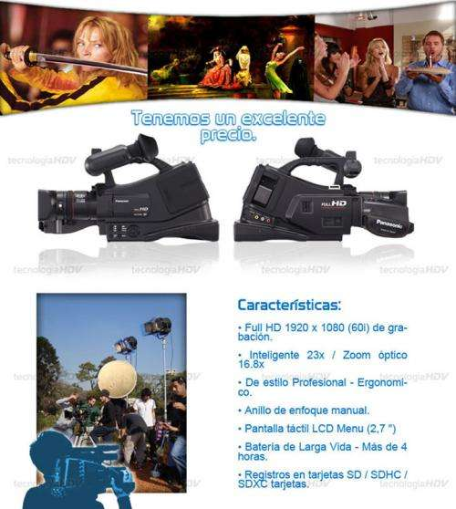 Camara de video profesional panasonic ag-ac7 full hd