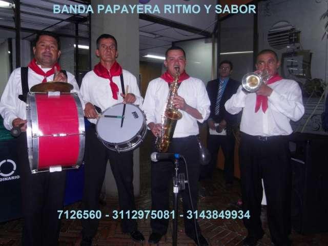 Autenticas bandas papayeras en bogota 3112975081 - 7126560 banda ritmo y sabor