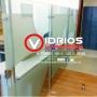 División para oficina en vidrio templado