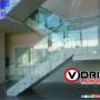 Escaleras en vidrio templado para casas y oficinas