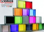 Vidrios pintados y en vinilo de colores