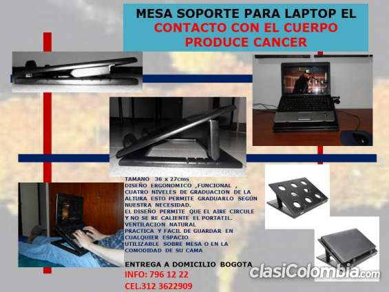 Mesa para computador portatil ergonomica