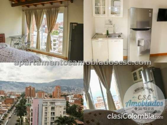 Apartamentos amobladosen renta código. ap55 ( laureles )