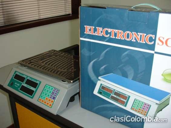 Basculas electrónicas tipo supermercado, capacidad de peso 30 kilos