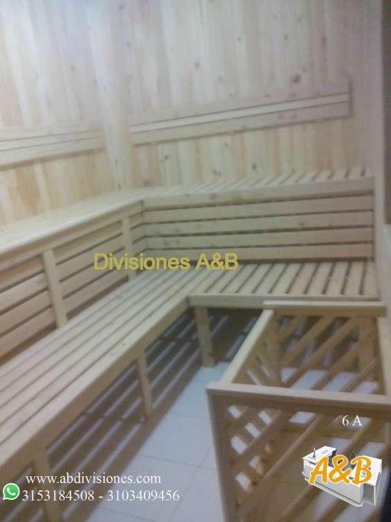 Saunas tipo cabina en pino patula o madera teka