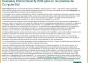 Antivirus:kaspersky internet security 2010