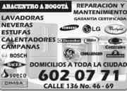 Mantenimiento, reparación, lavadoras, electrodomésticos 6020771 BOGOTÁ