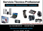 Reparacion tv,  home theater, dvd, blu-ray, video beam, sonido, pcs, portatiles