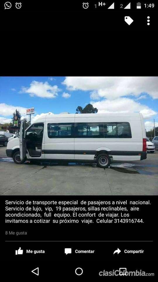 Ofrezco servicio para rutas empresariales y viajes a todo territorio nacional