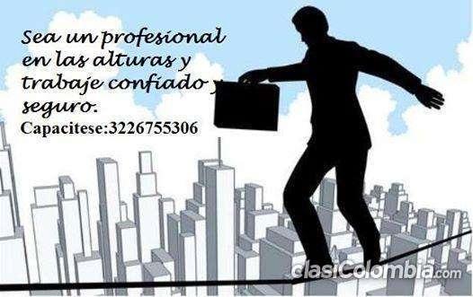 Oportunidad certificación: curso de trabajo en alturas!..3226755306 urgente.