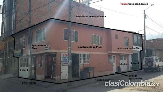 Oportunidad !! vendo 4 locales esquineros con apartamento en zona comercial