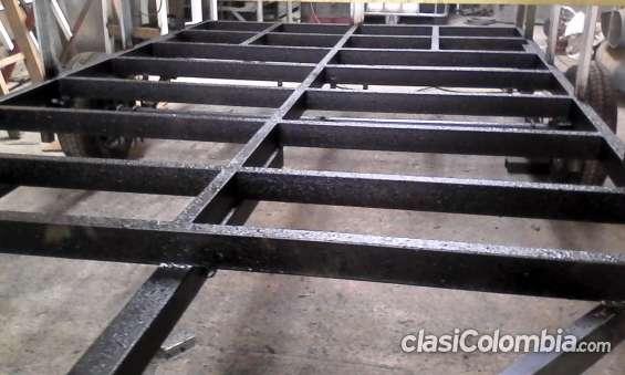 Proceso de fabricación: chasis o base del trailer tubo cuadrado 6x6
