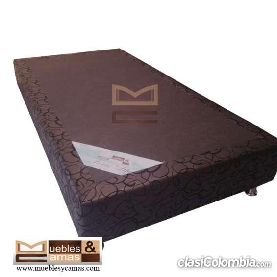 Base cama semidoble en promoción somos fabricantes