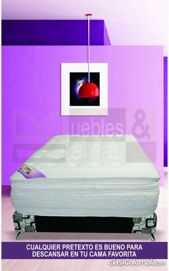 Base cama y colchón semidoble en promoción!