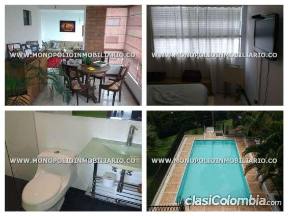 Apartamento amoblado en medellín - poblado cod: 5383 l