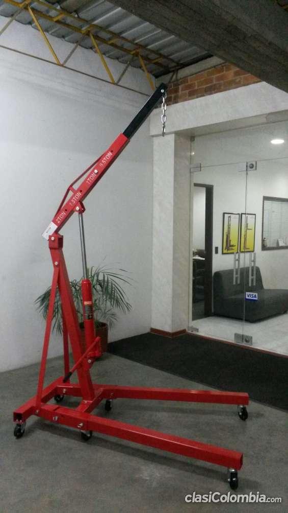 Grua elevamotores nueva, capacidad 2000 kilos