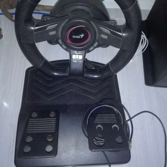Volante con acelerador joystick genius speedwheel 5 pc-ps3