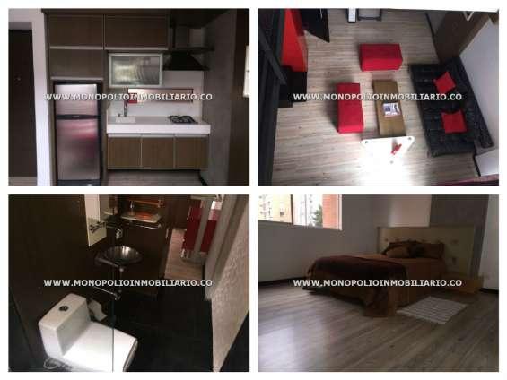 Apartaestudio duplex amoblado alquiler medellin - el poblado cod**>>.8663