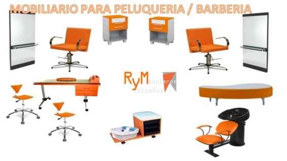 Exclusivos conjuntos de muebles para su peluquería