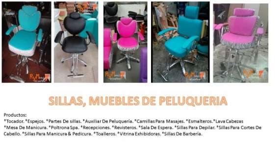 Sillas, muebles de peluquería