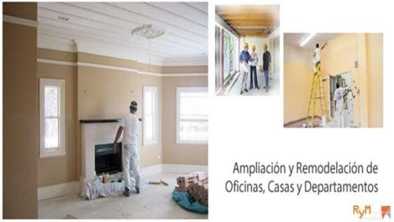 Ampliación y remodelación de oficinas casas y departamentos