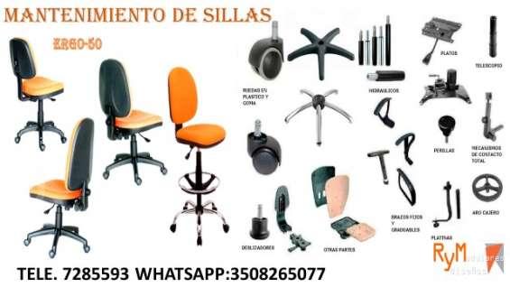 Mantenimiento y reparación en sillas de oficina