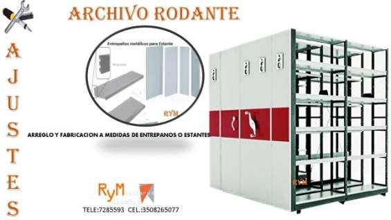 Mantenimiento estanteria archivo rodante