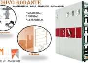 MANTENIMIENTO CERRADURA Y SEGURIDAD EN ARCHIVO RODANTE
