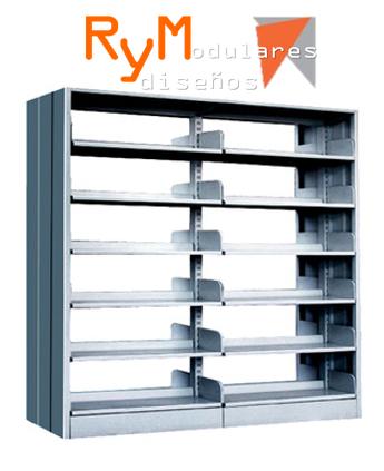 Fabricación de estantería y mobiliarios para biblioteca en metálico