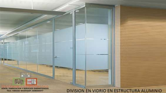 Venta de divisiones de oficina en vidrio