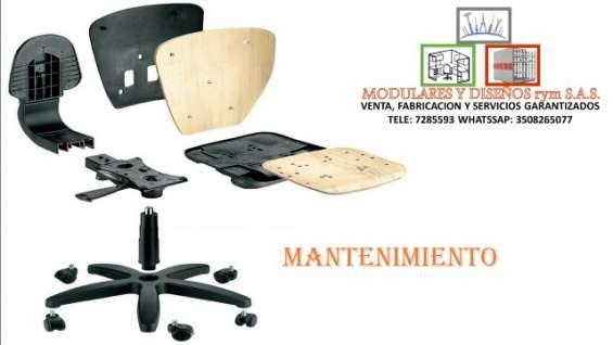 Mantenimiento general en sillas para oficinas.