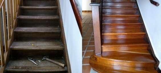 Mantenimiento de escaleras en madera cel 3127380409
